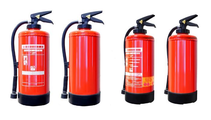 Uso de extintores en la industria
