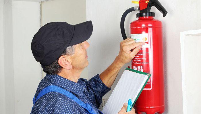 Recarga de los extintores contra incendios