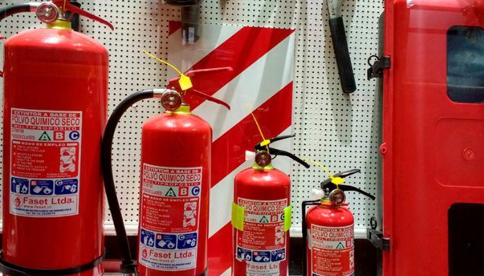 Capacidad de los extintores contra incendios