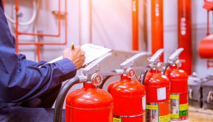 Utilización de extintores en la industria